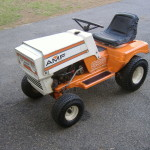 AMF Lawn tractor serviced and repaired front-side