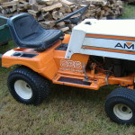 AMF Lawn tractor serviced with trailer